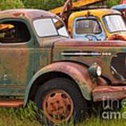 Rusty Old Trucks Poster