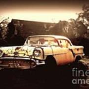 Rusty Oldsmobile Poster