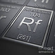 Rutherfordium Chemical Element Poster