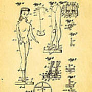 Ryan Barbie Doll Patent Art 1961 Poster