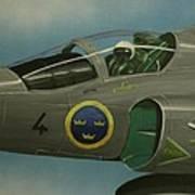 Saab Viggen Gruppo 4 Cockpit Poster