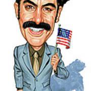 Sacha Baron Cohen as Borat Sagdiyev  Poster