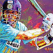 Sachin Tendulkar Poster by Maria Arango