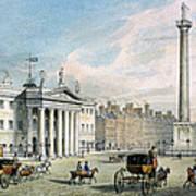 Sackville Street, Dublin, Showing The Post Office And Nelsons Column Poster