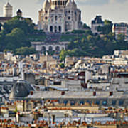 Sacre Coeur Over Rooftops Poster