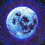 Sacred Feminine Blue Moon Poster