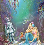 Sad Little Mermaid Poster by Zorina Baldescu