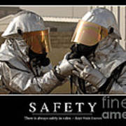 Safety Inspirational Quote Poster