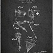 Safety Parachute Patent From 1925 - Charcoal Poster