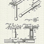 Safety Razor Patent 1937 Poster