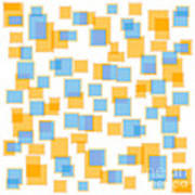 Saffron Yellow And Azure Blue Poster
