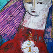 Sagrado Corazon Poster by Thelma Lugo