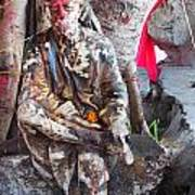 Sai Baba - Resting At Pushkar Poster by Agnieszka Ledwon