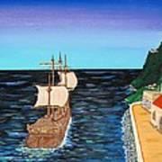 Sail At Dusk Poster