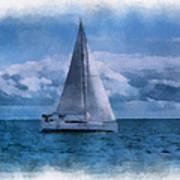 Sail Boat Photo Art 01 Poster
