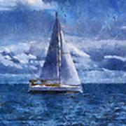 Sail Boat Photo Art 02 Poster