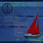 Sail Sail Sail Away - J173131140v02 Poster by Variance Collections