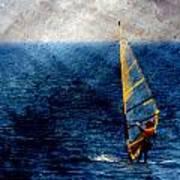 Sailboarding W Metal Poster