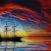 Sailboat Fractal Poster by Shane Bechler