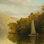 Sailboat On River Poster