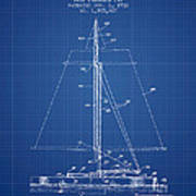 Sailboat Patent From 1932 - Blueprint Poster