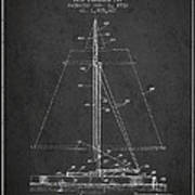 Sailboat Patent From 1932 - Dark Poster