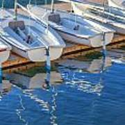 Sailboats And Dock Poster by Cliff Wassmann