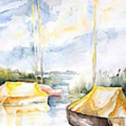Sailboats Awakening Poster