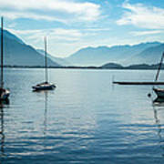 Sailboats On Como Poster