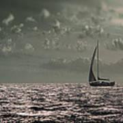 Sailing Poster by Akos Kozari
