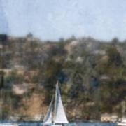Sailing Along The Shore Poster