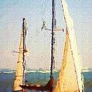 Sailing At Daytona Poster