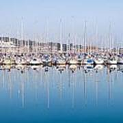 Sailing Boats In The Howth Marina Poster