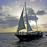Sailing In Aruba Poster