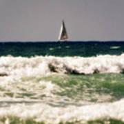 Sailing In California Poster