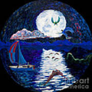 Sailing In The Moonlight Poster