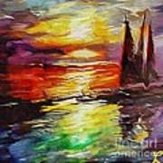 Sailing In The Sunset Poster