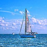 Sailing Off Of Key Largo Poster