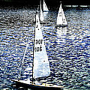 Sailing On Blue Poster