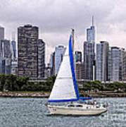 Sailing On Lake Michigan Poster