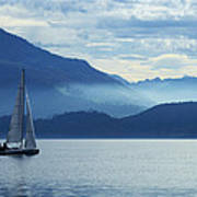 Sailing On Lake Zug Poster by Ron Sumners