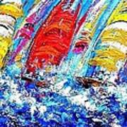 Sailing Ships In The Wind Poster