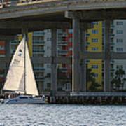 Sailing The Intracoastal Poster