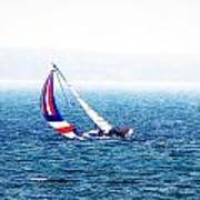 Sailing Vinyard Sound  Photo Art Poster