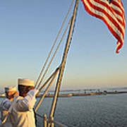 Sailors Salute The National Ensign Poster