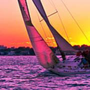 Sails At Dusk Poster