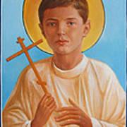 Saint Alexei Oil Icon On Wood. Tsarevich  Passion-bearer Poster
