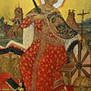 Saint Catherine Of Alexandria Icon Poster