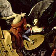 Saint Cecilia And The Angel Poster
