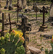 Saint Dominic Cemetery At Old D'hanis Texas Poster